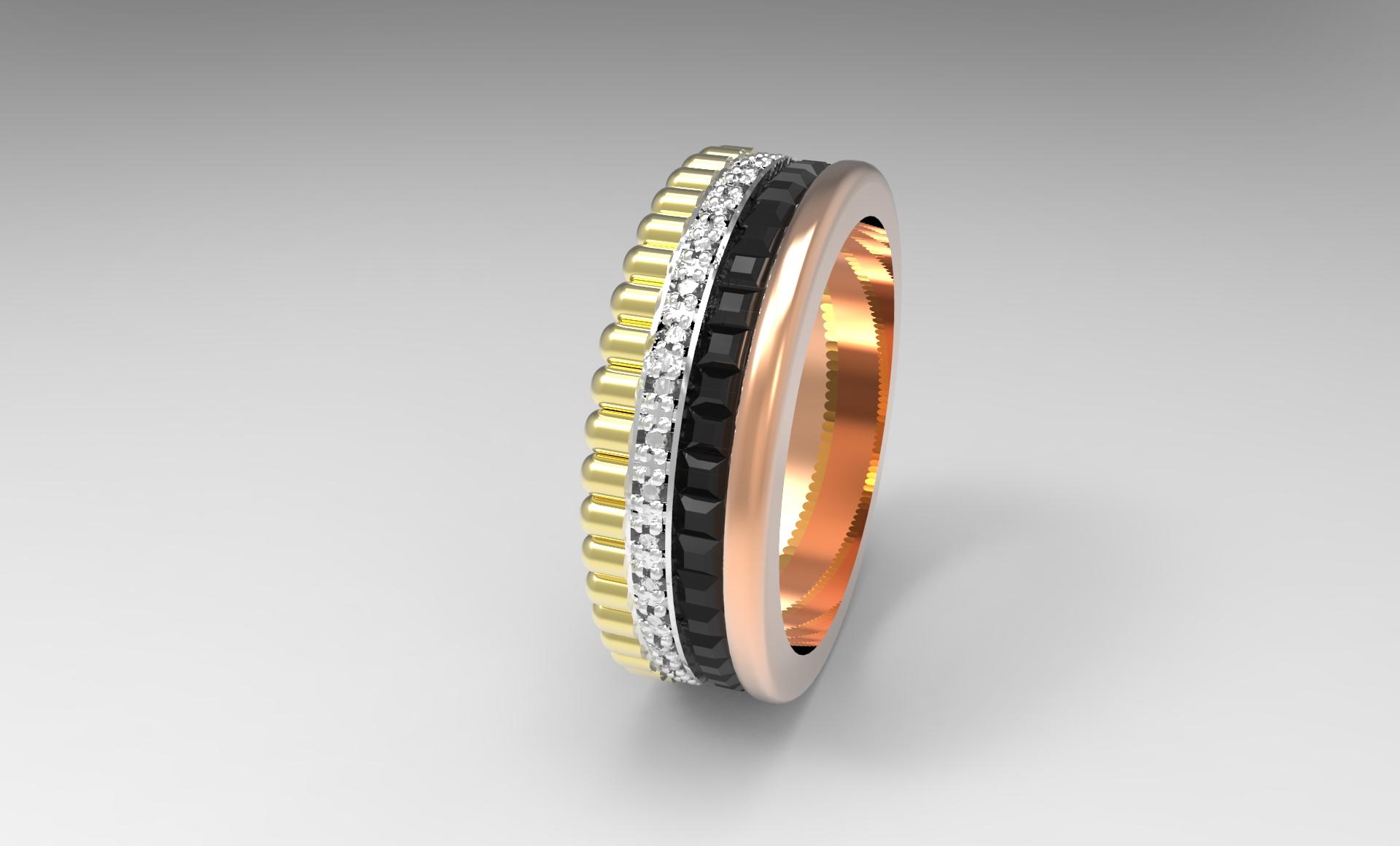 Обручальные кольца 3д фото 4
