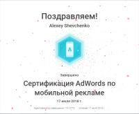Сертификат AdWords по Мобильной рекламе (действующий)