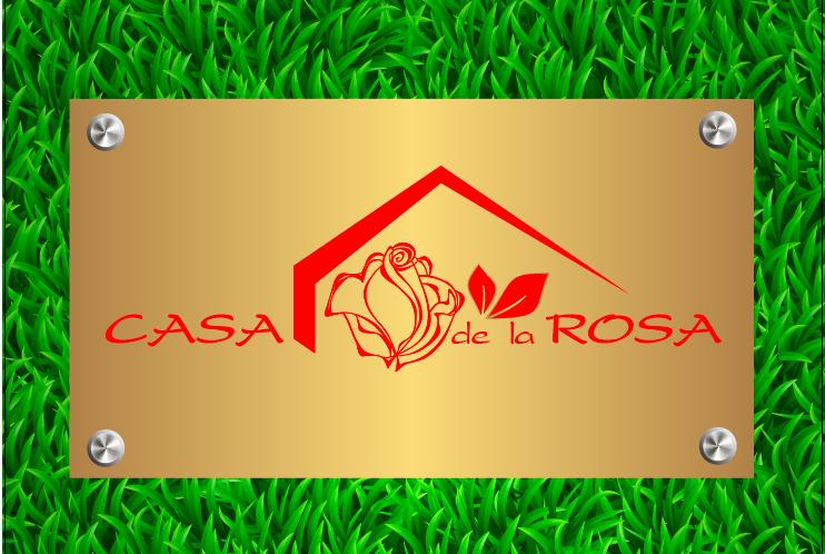 Логотип + Фирменный знак для элитного поселка Casa De La Rosa фото f_8775cd6a663960eb.png