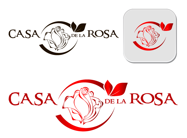 Логотип + Фирменный знак для элитного поселка Casa De La Rosa фото f_9105cd32bbedfaa5.png