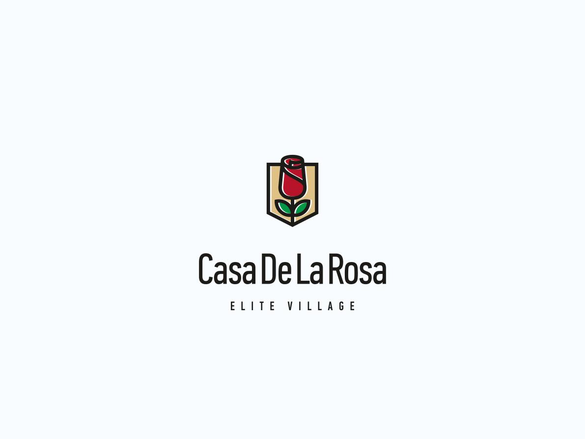 Логотип + Фирменный знак для элитного поселка Casa De La Rosa фото f_1395cd47403a2eba.png
