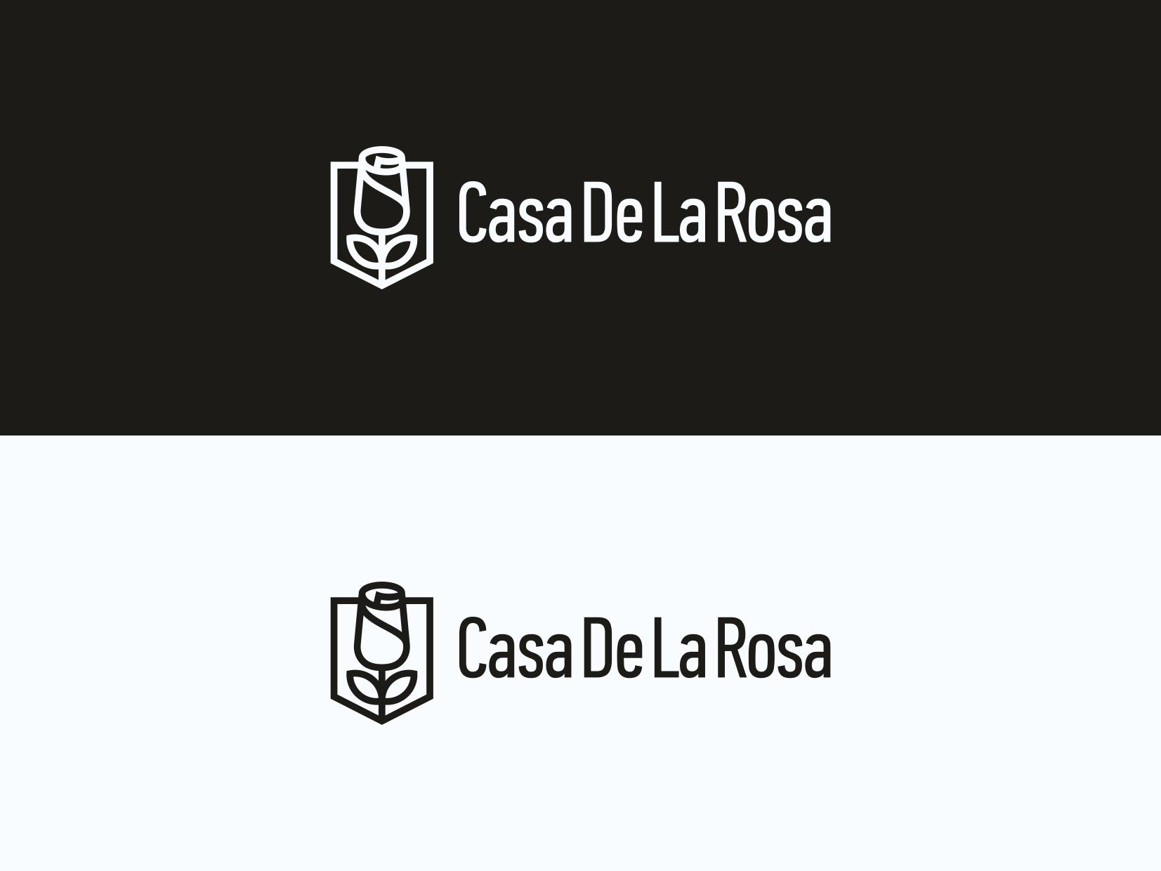 Логотип + Фирменный знак для элитного поселка Casa De La Rosa фото f_8275cd4736e9349c.png