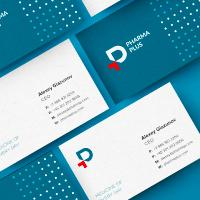 Логотип, фирменный стиль и гайдбук для компании Pharma Plus