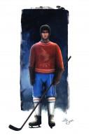 Концепт-дизайн персонажа хоккеиста