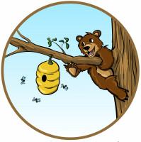 """Векторная иллюстрация """"Мишка на дереве"""""""