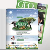 "TV канал ""ZOO"": полоса в журнале GEO"