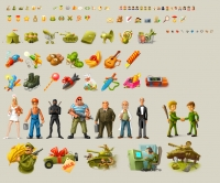 Иконки и миниатюры для игры Banana Wars