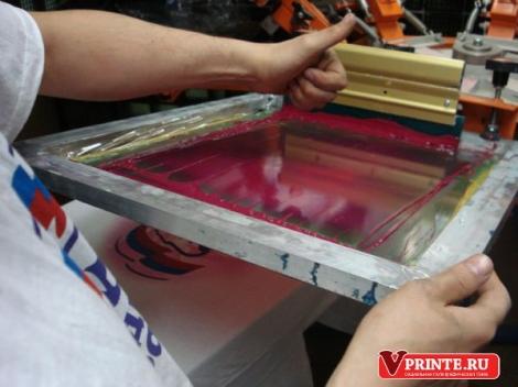 Итак, в печати красками, использующимися в шелкотрафаретном.
