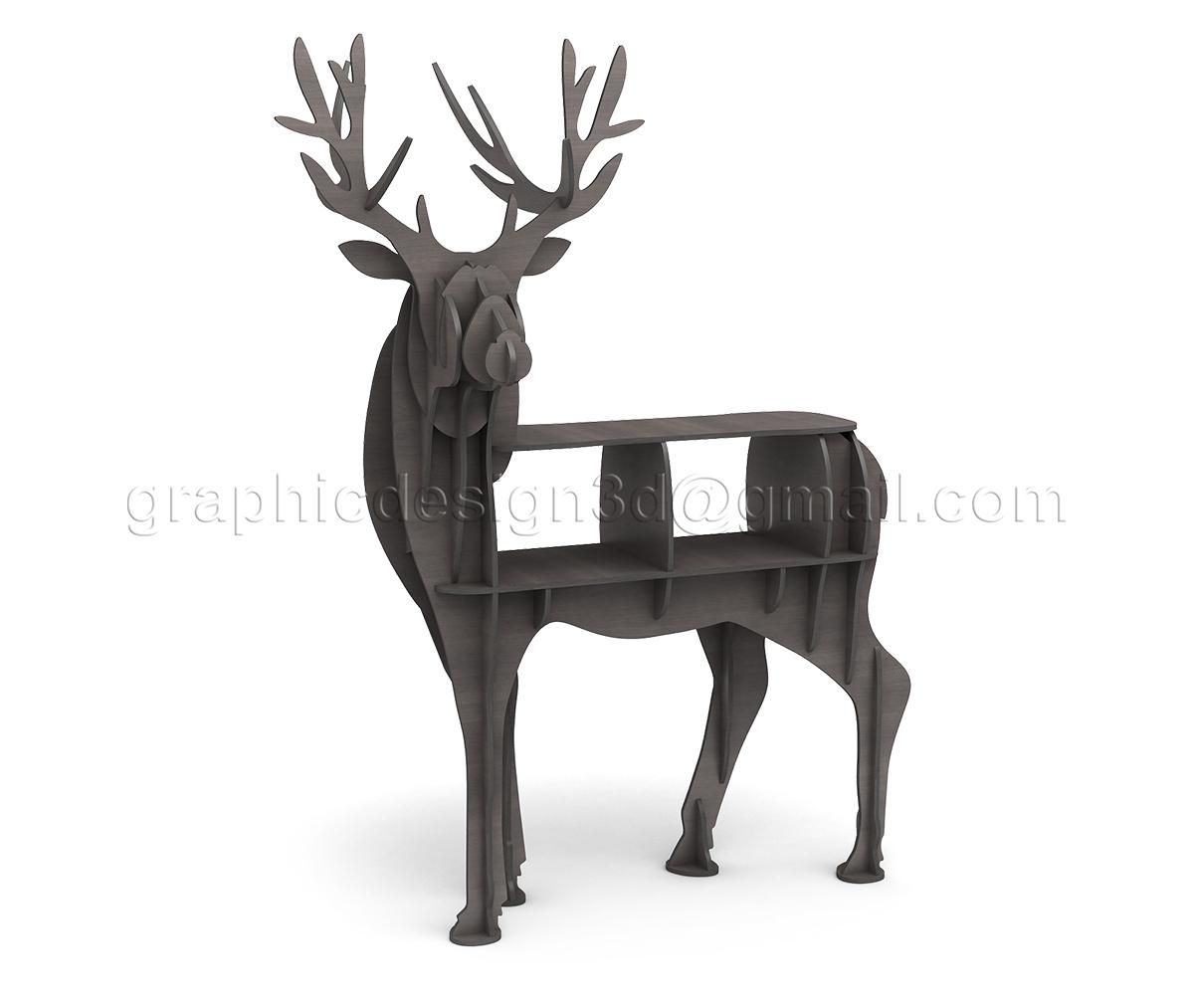 3d пазл олень 2