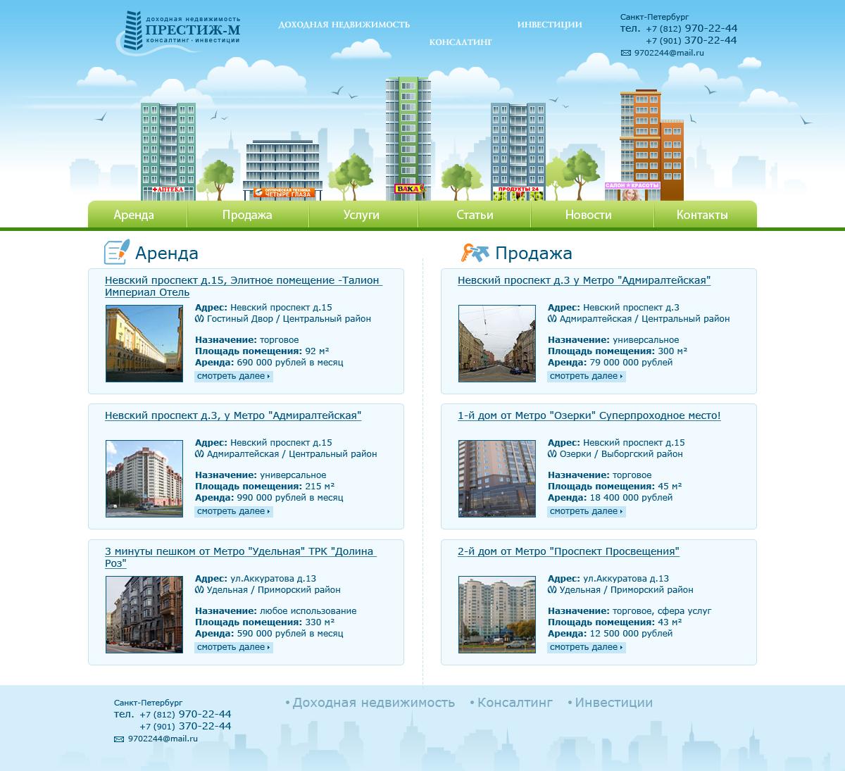 Drupal Сайт недвижимости