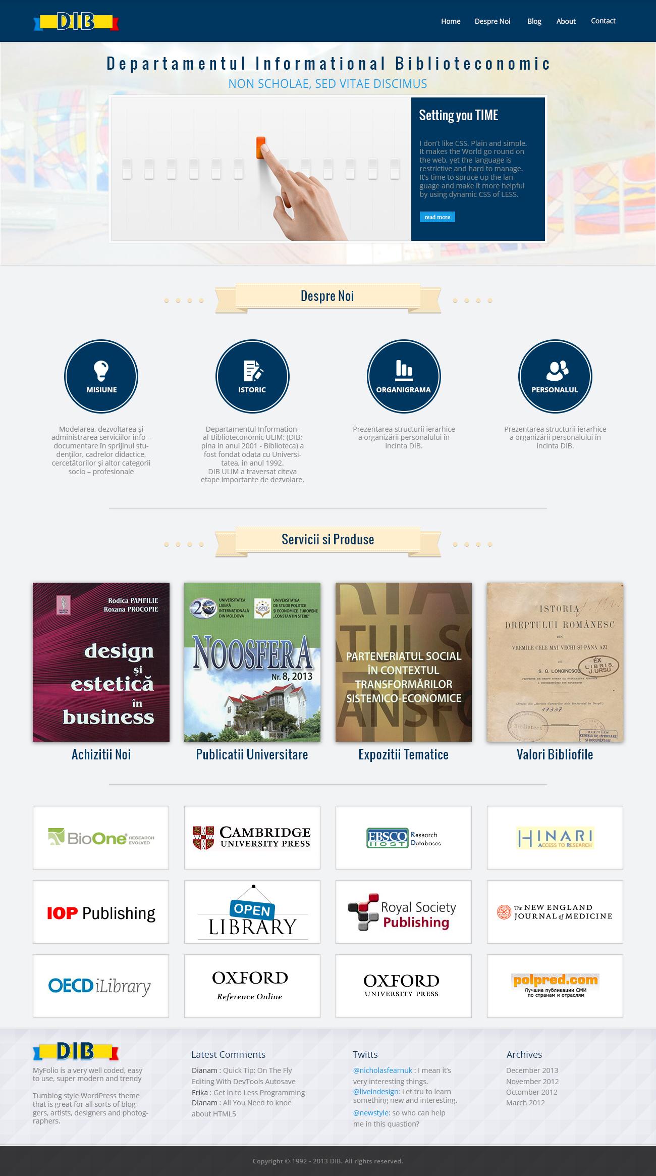 Дизайн сайта в стиле Minimal(минимал) для библиотеки университета