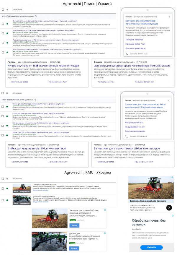 Запчасти и комплектующее для сельскохозяйственной техники - Adwords