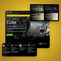 Дизайн главной: инвестиции в спорт CUBE