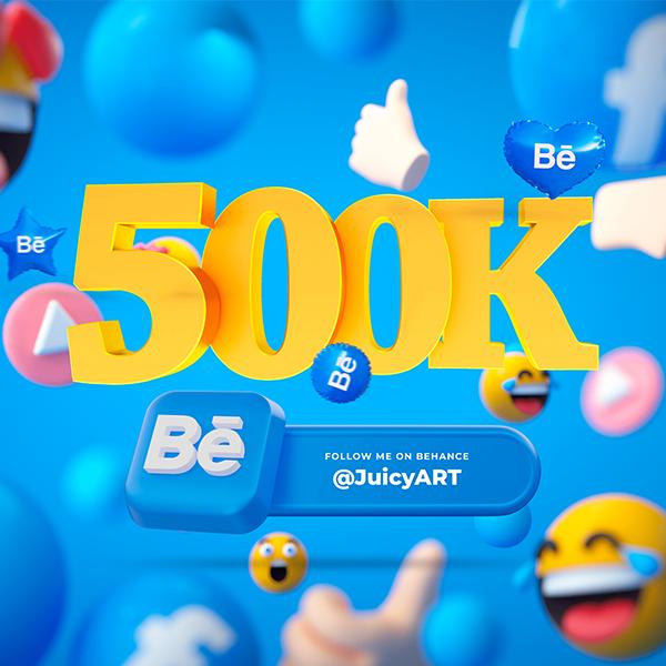500.000 Просмотров на Behance