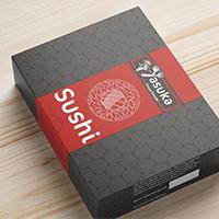Дизайн упаковки Sushi: Ясука