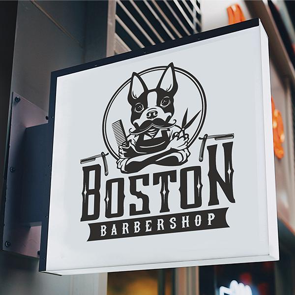 Лого: BARBERSHOP BOSTON