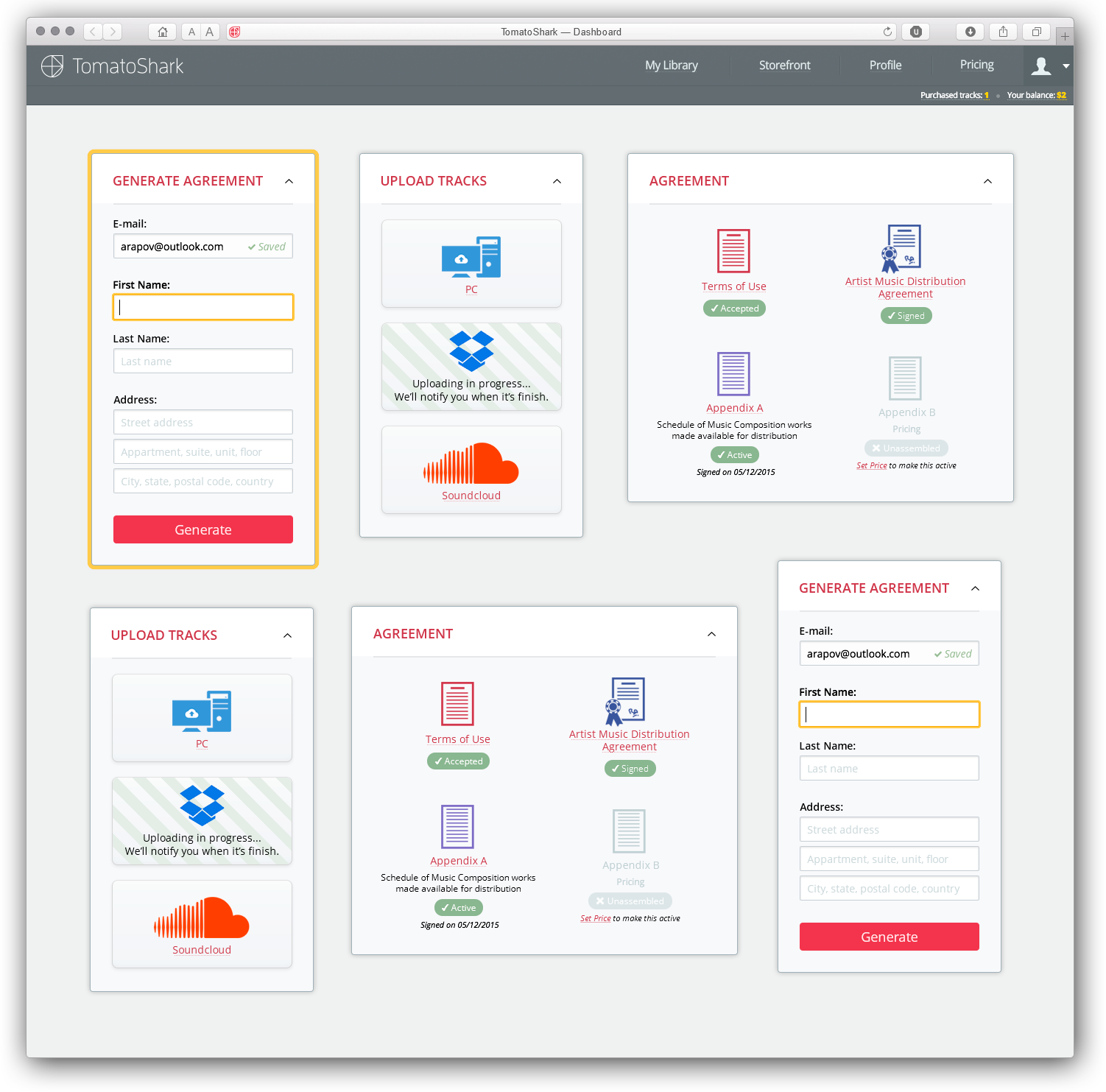 TomatoShark Inc. — Dashboard