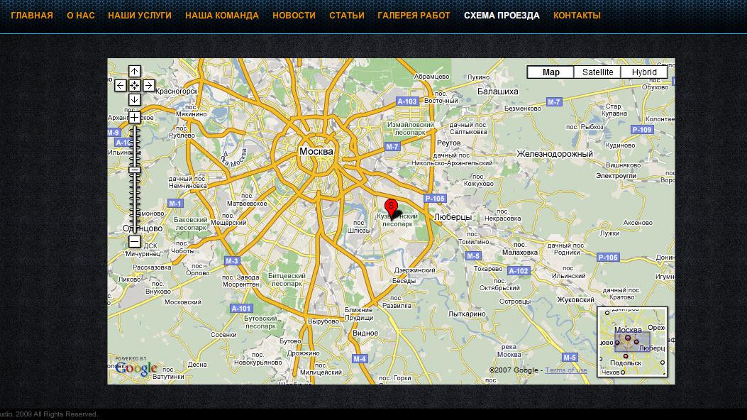 Карта гугл на флэш сайт