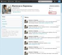 Twitter Жалюзи 2500+ живых подписчиков