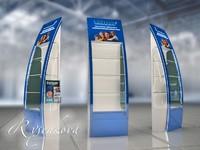 Дизайн торгового оборудования, стоек в 3d