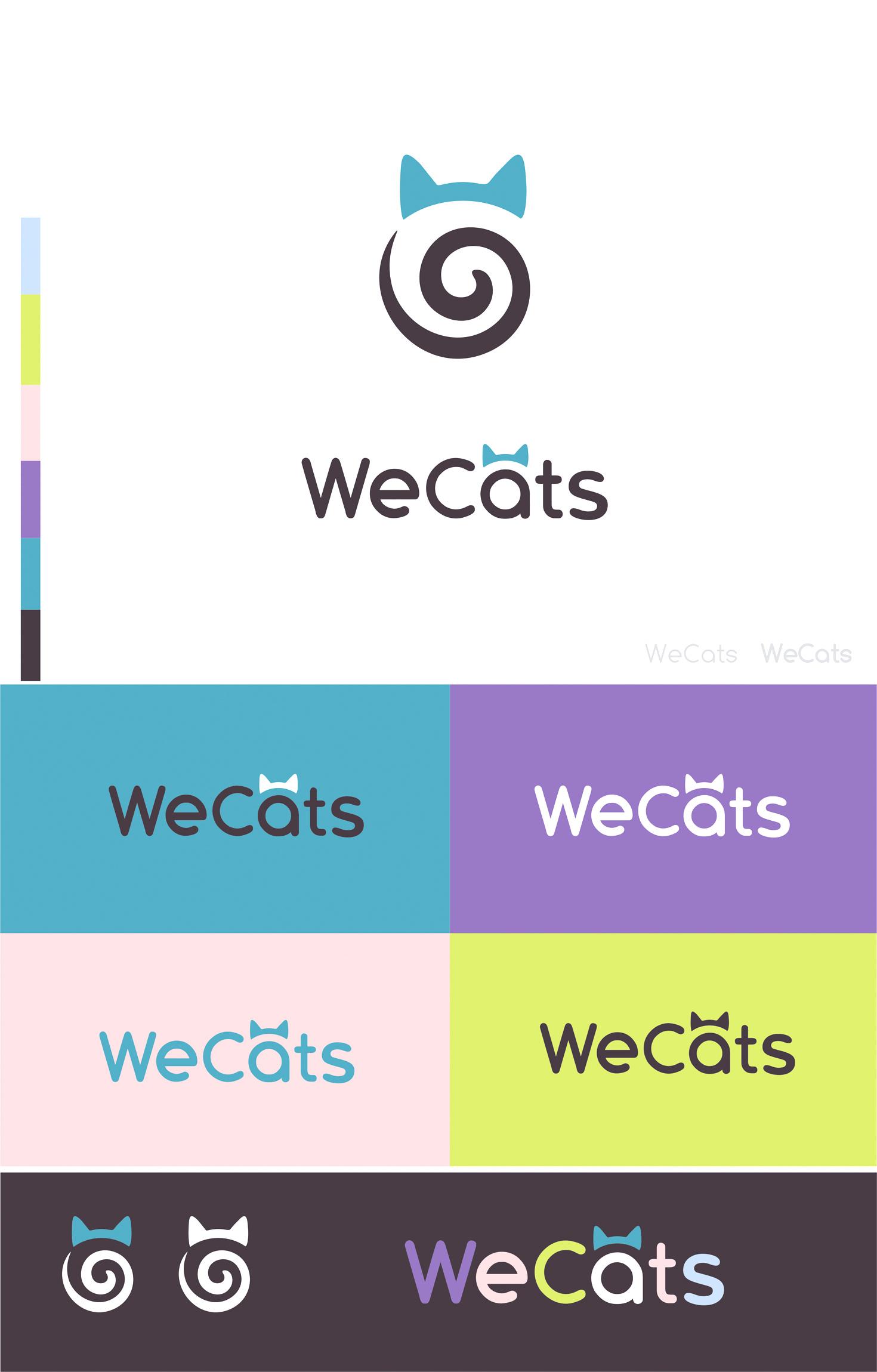 Создание логотипа WeCats фото f_0785f1dda095d4ea.jpg