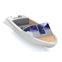 Алюминиевая моторная лодка для рыбалки. Подготовлена к серийному производству.