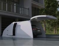 Компактный пластиковый гараж.