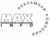 Максинфо чёрнобелый знак.