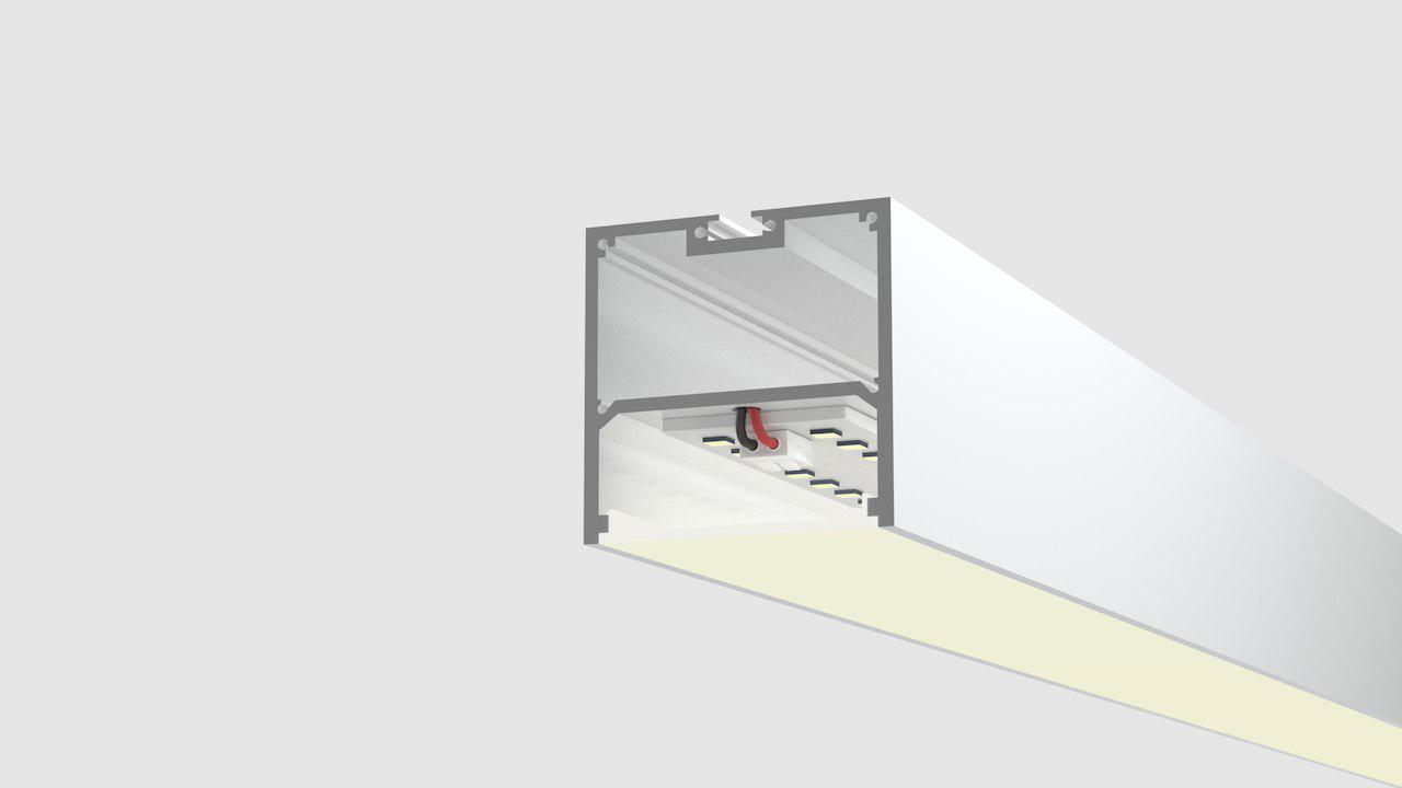Моделирование разрезов светильников из профиля
