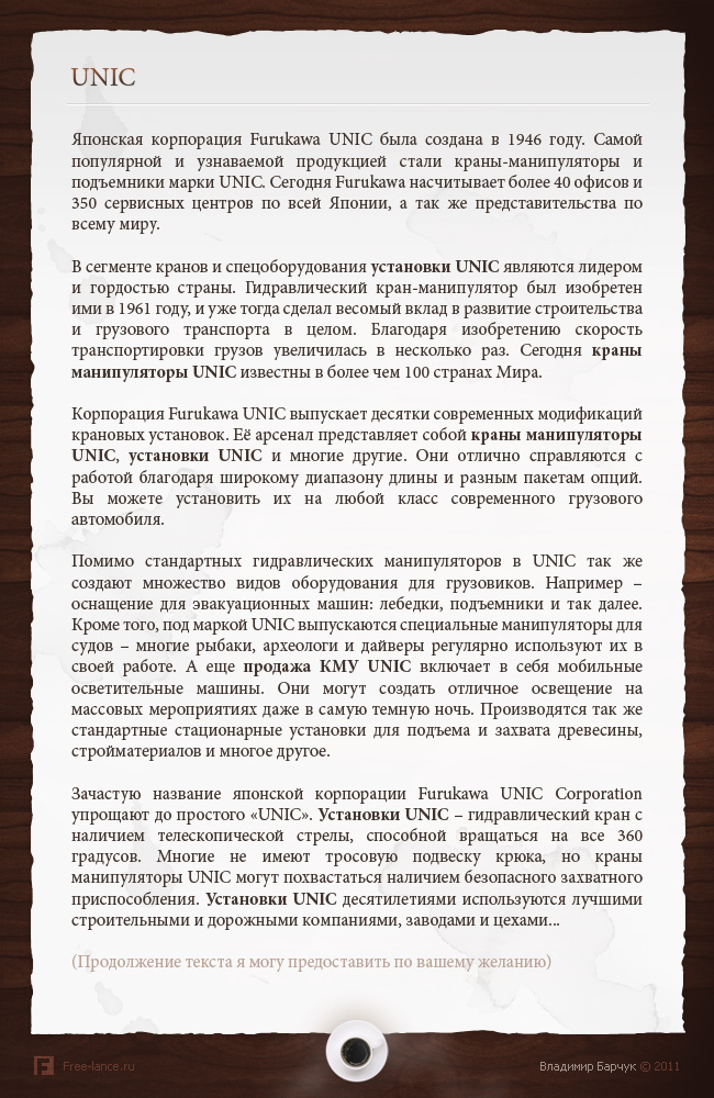 "Описание корпорации ""UNIC"""
