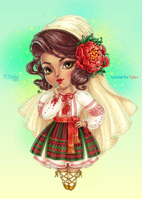 Cute Moldovan Chibi