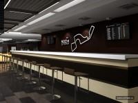 Интерьер центра управления гонками F-1