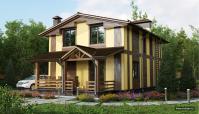 Визуализация загородного жилого дома
