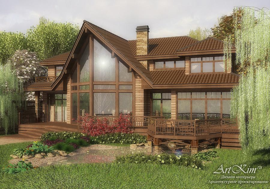Проект загородного дома. Кедровый брус.