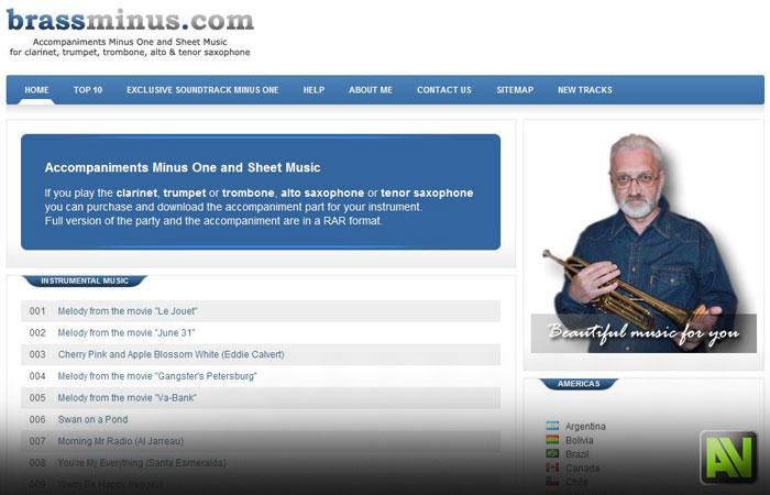 Сайт для музыкантов (ноты с фонограммами)
