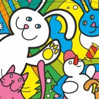Новогодофф, сумка-раскраска с зайцами