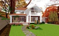 Проект дома Геннадия Плаксина (Авангардпласт) вид с сада