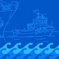 Река-Море, иллюстрации для судоходной компании