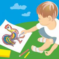 Новогодофф, рекламный баннер конкурса детского рисунка
