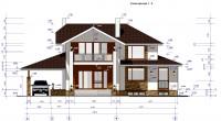 Проект дома Геннадия фасад с размерами