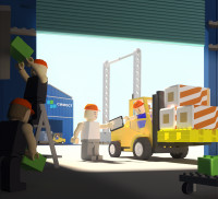 Сахалин порт календарь в стиле лего (3D) май