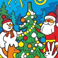 Сумка-раскраска Дед Мороз и хоровод
