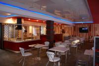 Кафе-бар с приготовлением блюд на воке (открытый огонь) логотип - финалист кон. Золотая блоха, вывеска, интерьер и т.д.