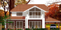 Проект дома Геннадия Плаксина  вид с сада