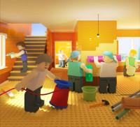 Сахалин порт календарь в стиле лего (3D) сентябрь