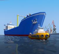 Сахалин порт календарь в стиле лего (3D) январь