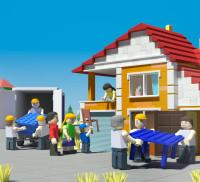 Сахалин порт календарь в стиле лего (3D) ноябрь
