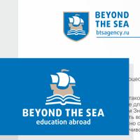 Beyand The Sea, образование за рубежом. Логотип, фирмстиль.