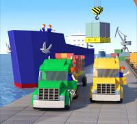 Сахалин порт календарь в стиле лего (3D) март