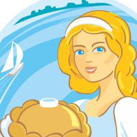 Волжанка, кафе-кулинария, логотип и фасад. Финалист конкурса Золотая блоха 2019